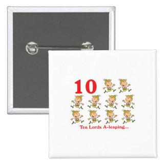 uno-salto de 12 señores de los días diez pin cuadrado