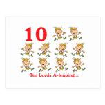 uno-salto de 12 señores de los días diez tarjeta postal