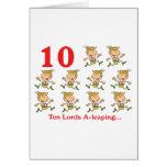 uno-salto de 12 señores de los días diez tarjetas