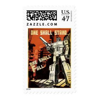 Uno se colocará (urbano) sello postal