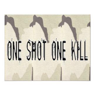Uno tiró una matanza invitación 10,8 x 13,9 cm
