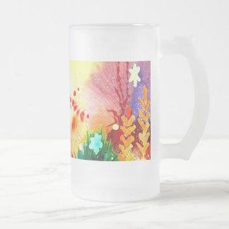 Uno tropical taza de cristal