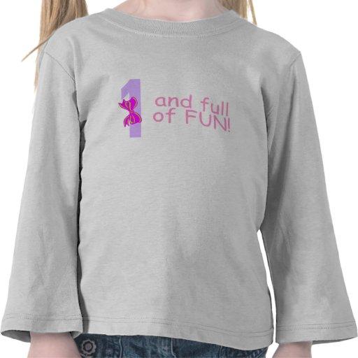 Uno y lleno de diversión (arco) camisetas