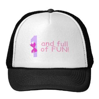 Uno y lleno de diversión (arco) gorra