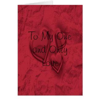 Uno y solamente amor tarjeta de felicitación