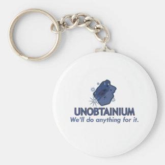 Unobtainium Basic Round Button Keychain