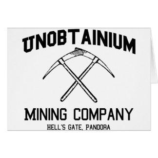 Unobtainium Company Minera Tarjetas