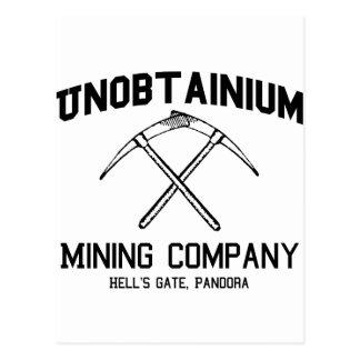 Unobtainium Company Minera Tarjetas Postales