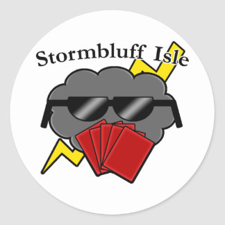 Unofficial Stormbluff Isle Server Name & Logo Classic Round Sticker