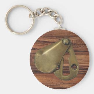 Unopened Keyhole Basic Round Button Keychain