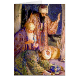 Unos de los reyes magos 1912 tarjeta