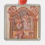 Unos de los reyes magos que visitan a rey Herod Ornamento Para Arbol De Navidad
