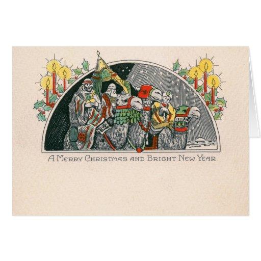Unos de los reyes magos tres reyes Christmas Tarjeta De Felicitación