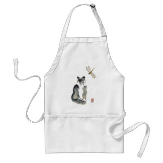 Unpalatable Insect [dragonfly] and Gray Kitten Adult Apron
