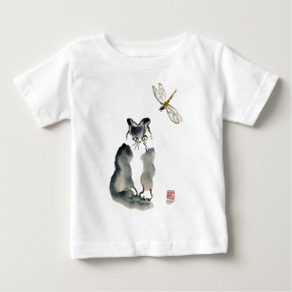 Unpalatable Insect [dragonfly] and Gray Kitten Baby T-Shirt