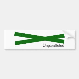unparalleled bumper stickers
