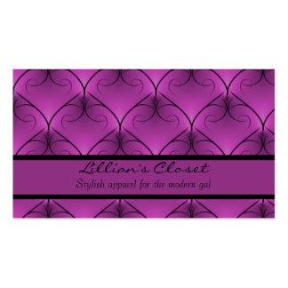 Unparalleled Elegance Business Card, Purple