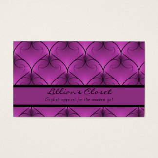 Unparalleled Elegance Business Card, Purple Business Card