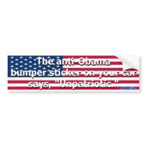 Unpatriotic Bumper Sticker