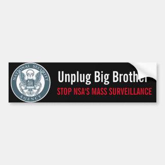 Unplug Big Brother Bumper Sticker