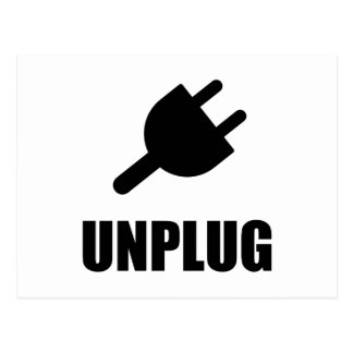 Unplug Technology Postcard