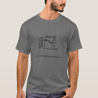 Unplug To Recharge T-Shirt (grey)
