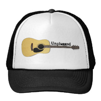 Unplugged Acoustic Guitar Trucker Hats