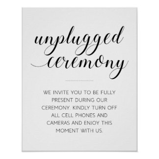 Unplugged Wedding Ceremony Sign - Alejandra