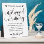 """Unplugged Wedding Ceremony Sign Plaque 8x10<br><div class=""""desc"""">Perfect sign to remind guests to turn off their phones for your elegant ceremony!</div>"""