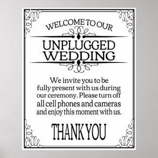 Unplugged Wedding sign print