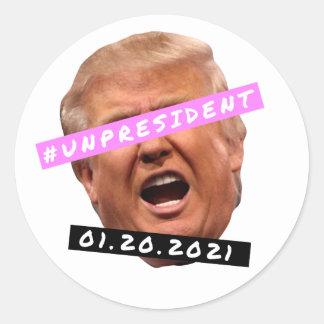 Unpresident Classic Round Sticker