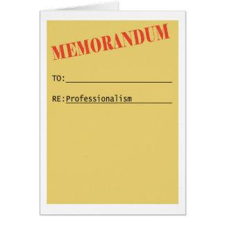 Unprofessional Co-worker Card