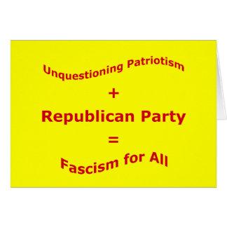 Unquestioning Patriotism Card