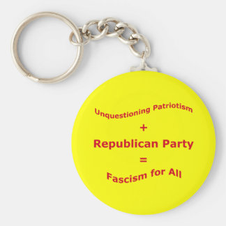 Unquestioning Patriotism Basic Round Button Keychain