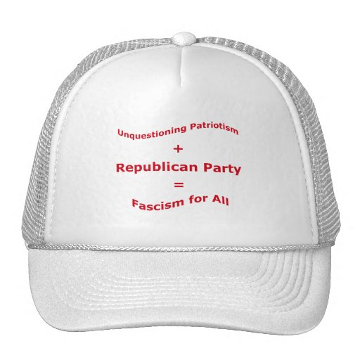 Unquestioning Patriotism Mesh Hats