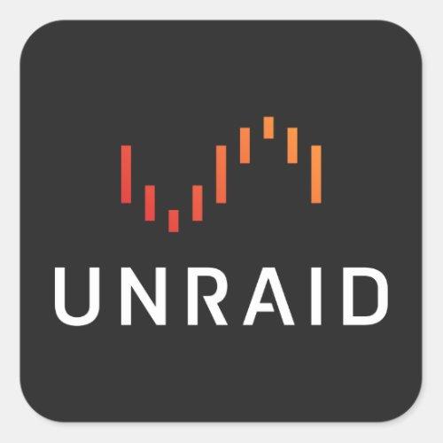 Unraid sticker_ Black Square Sticker