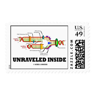 Unraveled Inside (DNA Replication Humor) Stamps