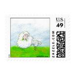 Unraveled Sheep Postage Stamp