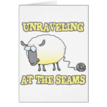 unraveling at the seams funny sheep cartoon cards