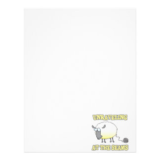 unraveling at the seams funny sheep cartoon letterhead