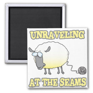 unraveling at the seams funny sheep cartoon refrigerator magnets