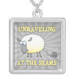 unraveling at the seams funny sheep cartoon pendants