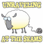 unraveling at the seams funny sheep cartoon photo cut out