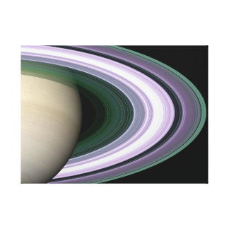 Unraveling Saturn's Rings Stretched Canvas Prints