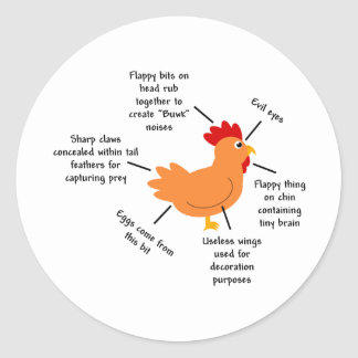 Unravelling the Mysteries of the Chicken Classic Round Sticker