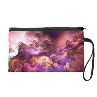 Unreal Purple Clouds Wristlet
