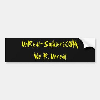 UnReal-Soldiers.COM               We R Unreal Bumper Sticker