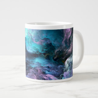 Unreal Stormy Ocean Large Coffee Mug