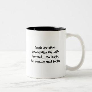 Unreasonable People Two-Tone Coffee Mug