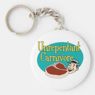 Unrepentant Carnivore Basic Round Button Keychain
